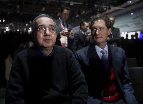 Fiat SpA Chairman John Elkann and Fiat SpA CEO Sergio Marchionne