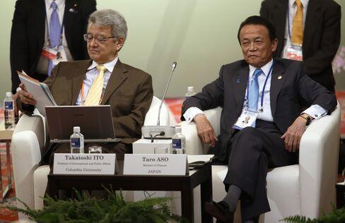 G7のシンポジウムに、麻生副総理と共に参加する伊藤氏
