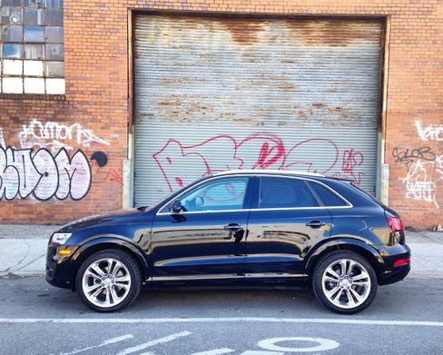 The Audi Q3 looks much smaller than Audi's Q5 and other assorted SUVs, but it retains plenty of space inside.