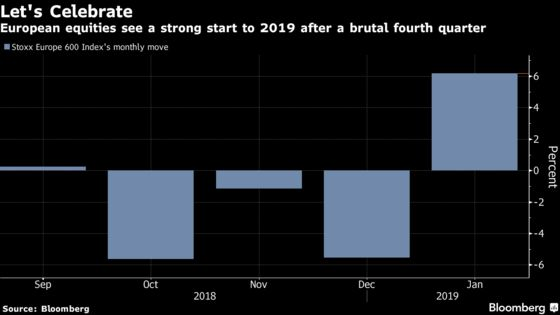 Europe Stocks Set for Best Month in 3 Years After Brutal 2018