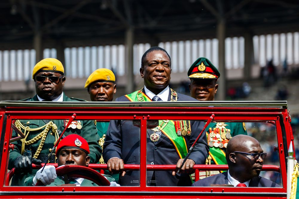 Zimbabwe's Mnangagwa Skips Davos, Heads Home After Fuel Protests