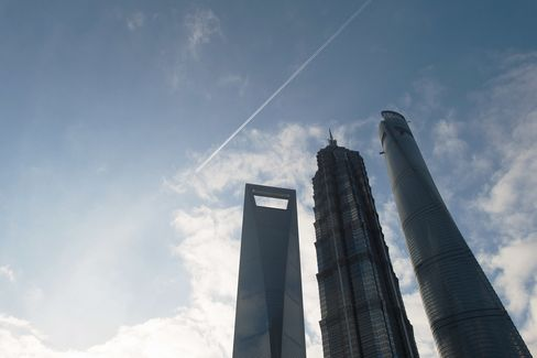 Shanghai World Financial Center, the Jinmao Tower, and the Shanghai Tower