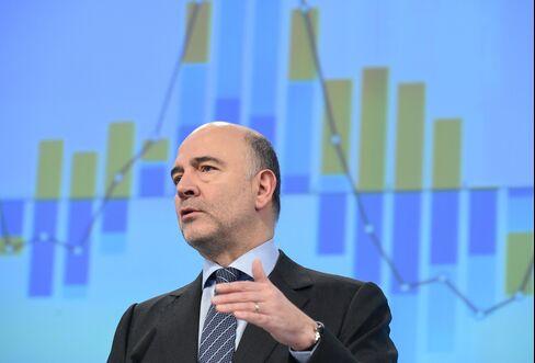Pierre Moscovici speaks in Brussels.