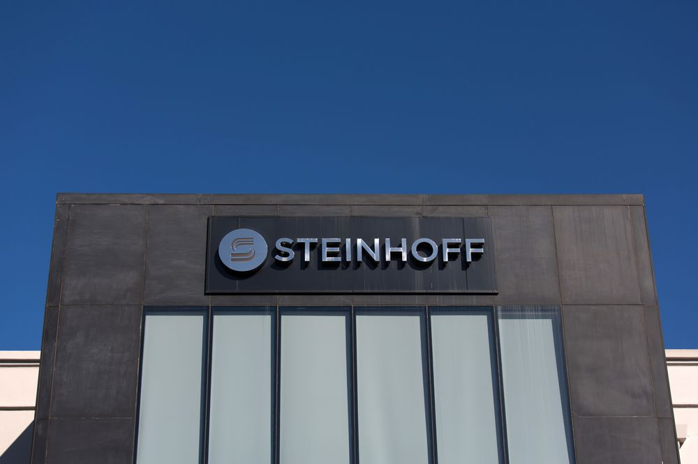 A company sign stands above the Steinhoff International Holdings NV company  headquarters in Stellenbosch. 603f17583