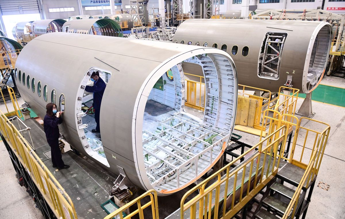 Airbus A220 Aircraft Manufacture In Shenyang