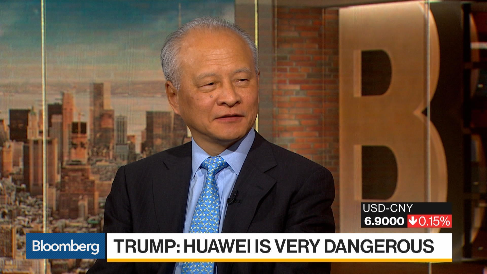 China's Cui Calls U.S. Allegations on Huawei 'Groundless'