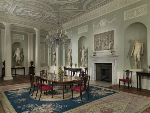 The dining room from Lansdowne House, London.