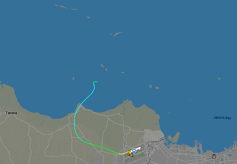 Sriwijaya Air Flight 182.