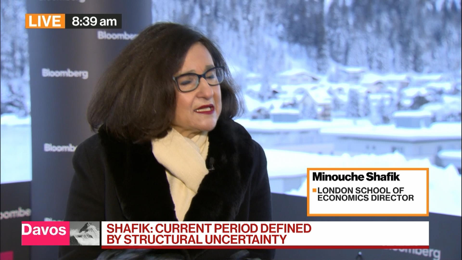 LSE's Shafik Sees Era of `Structural and Tectonic Uncertainty'