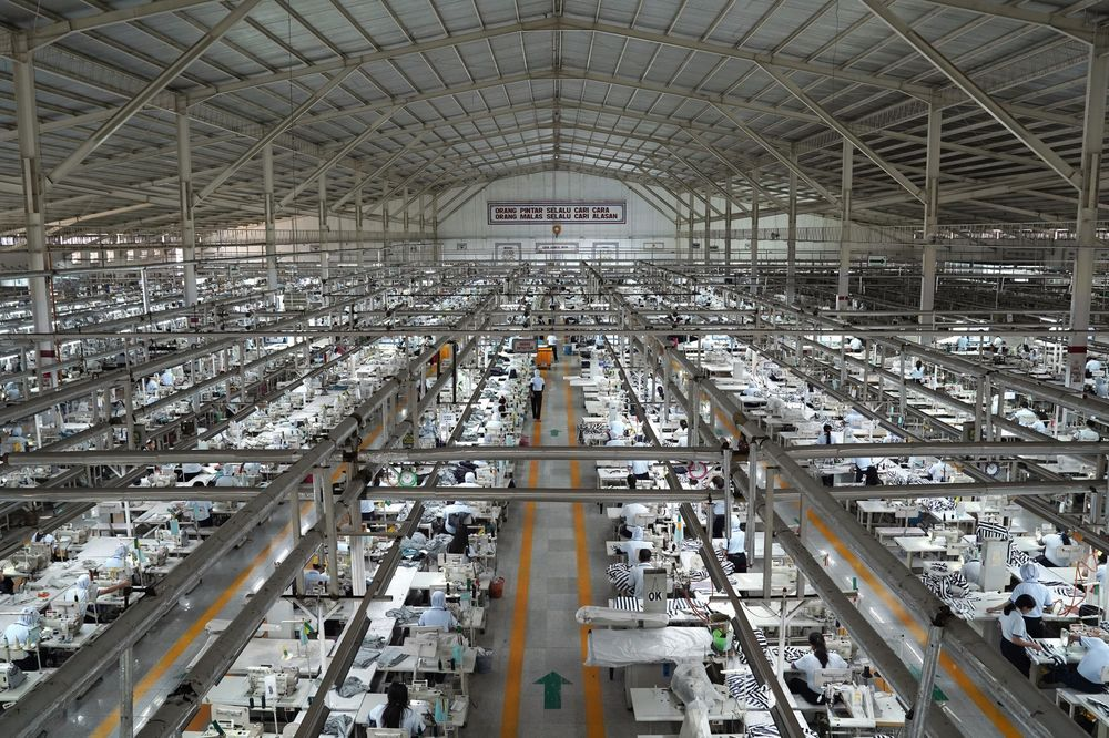 Image result for Operations inside a textile factory in Solo, Central Java, Indonesia
