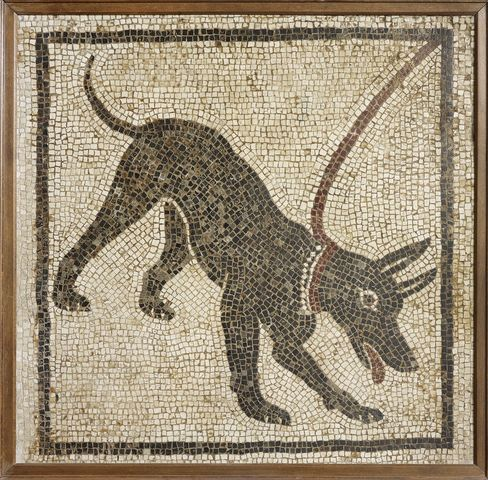 Mosaic of a Guard Dog
