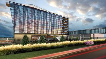 A rendering of the planned 300-room hotel planned to open in 2018 at Minneapolis-St. Paul International Airport