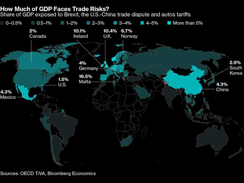 Examining The Trade Risk Exposure From Brexit To China Us Map - China-and-us-map