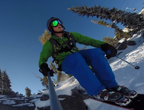 Tim Feess in a photo captured on his GoPro.