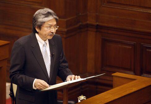 Hong Kong's Financial Secretary John Tsang