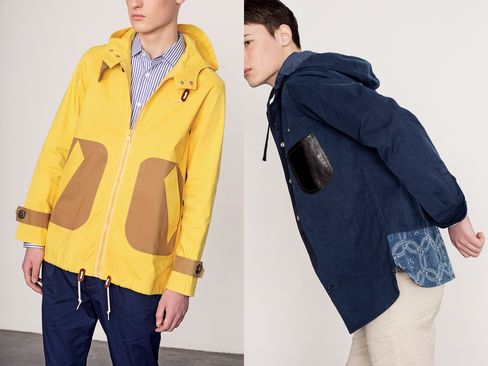 Because you wear a raincoat less often, go bold with the color.