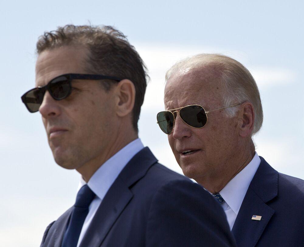 Hunter and Joe Biden.