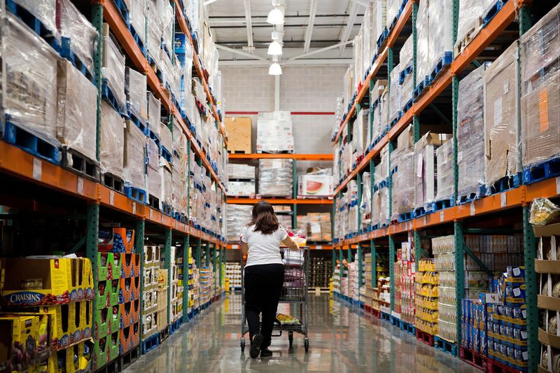 Costcos squeeze on suppliers signifies pain for pg nestle bloomberg a customer shops inside a costco wholesale corp store in miami florida altavistaventures Images
