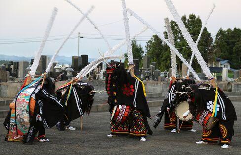 2016年の北方鹿踊り(岩手県金ケ崎町)