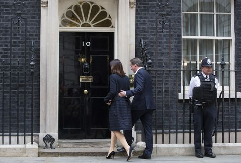 Conservative Party Leader David Cameron at 10 Downing Street
