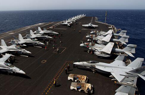 USS Eisenhower on Gulf Alert for Iran Threats Sees 'No Problems'