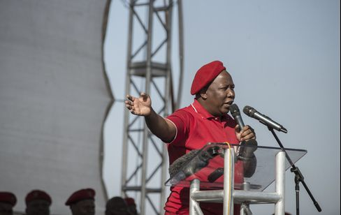 Economic Freedom Fighters Party Leader Julius Malema