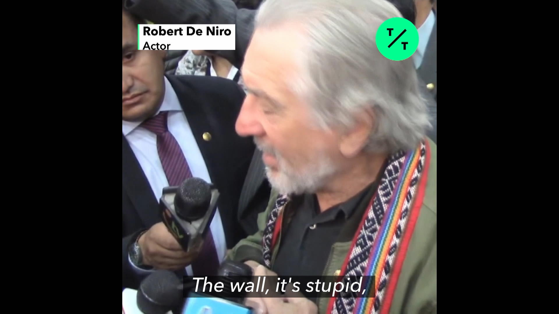 Robert De Niro on Trump's Wall