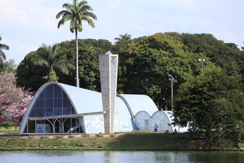 Oscar Niemeyer's church in Pampulha.