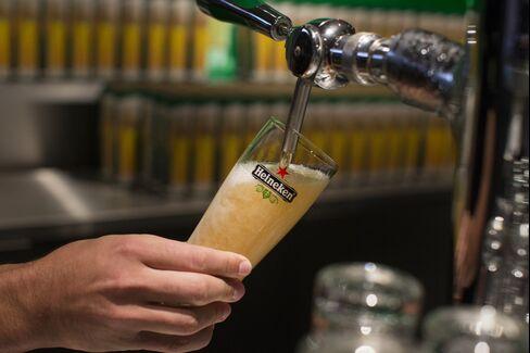 Operations Inside The Heineken Experience Bar Ahead Of Heineken NV's Half-Year Results