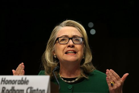 Secretary of State Hillary Clinton testifies before the Senate Foreign Relations Committee about the Benghazi attack onJan.23, 2013, in Washington.