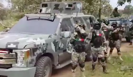 Mexican Video Shows Armed Men Cheering Powerful Druglord