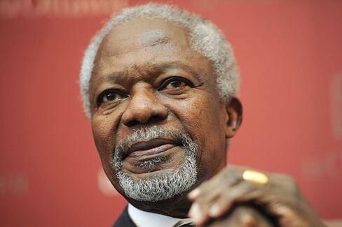 Charlie Rose Talks to Kofi Annan