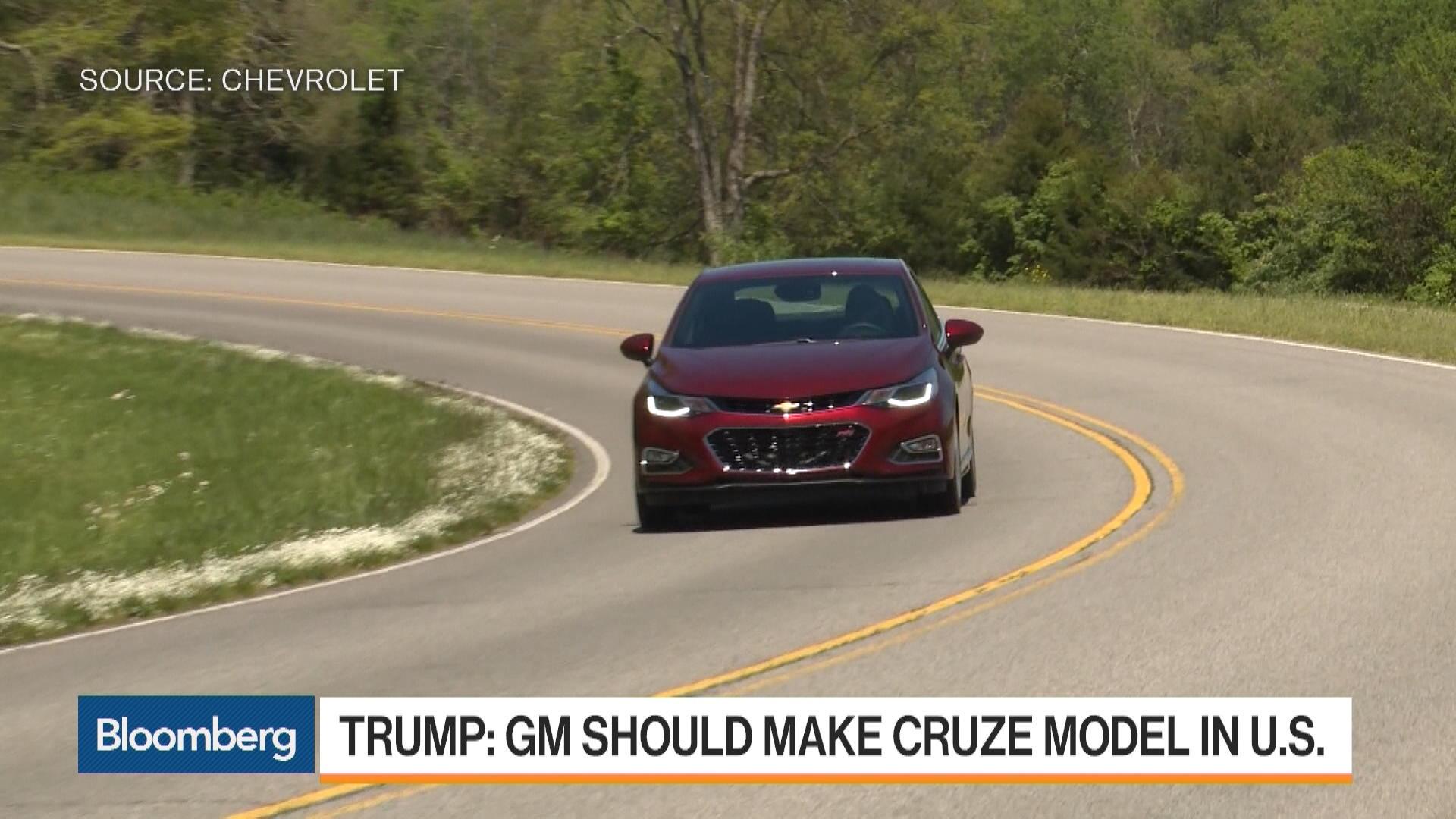 Trump Takes Aim At General Motors In Tweet Bloomberg General Motors News Newslocker