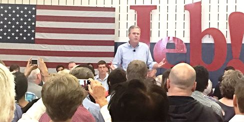 Republican presidential candidate Jeb Bush at a town hall meeting on Sept. 10 in Salem, New Hampshire.