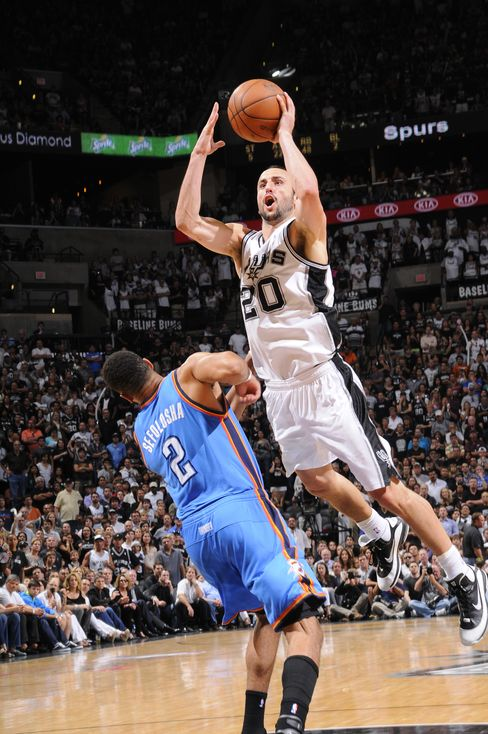 San Antonio Spurs' Manu Ginobili