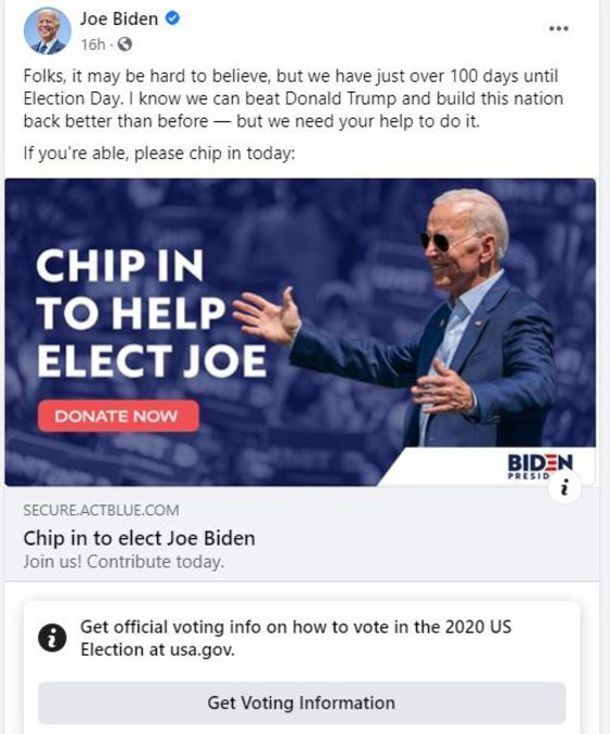 Facebook Begins Labeling Voting-Related Posts, Including Trump's