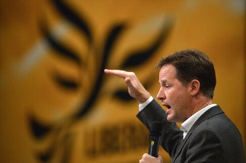 U.K. Deputy Prime Minister Nick Clegg