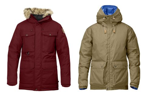 Fjallraven's Polar Guide Parks (left) and Down Jacket No. 16 (right). Also check out itscold-weather accessories and arsenal of cool rucksacks.
