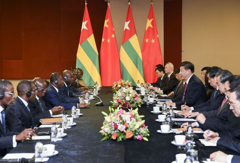 SOUTH AFRICA-CHINA-XI JINPING-TOGOLESE PRESIDENT-MEETING