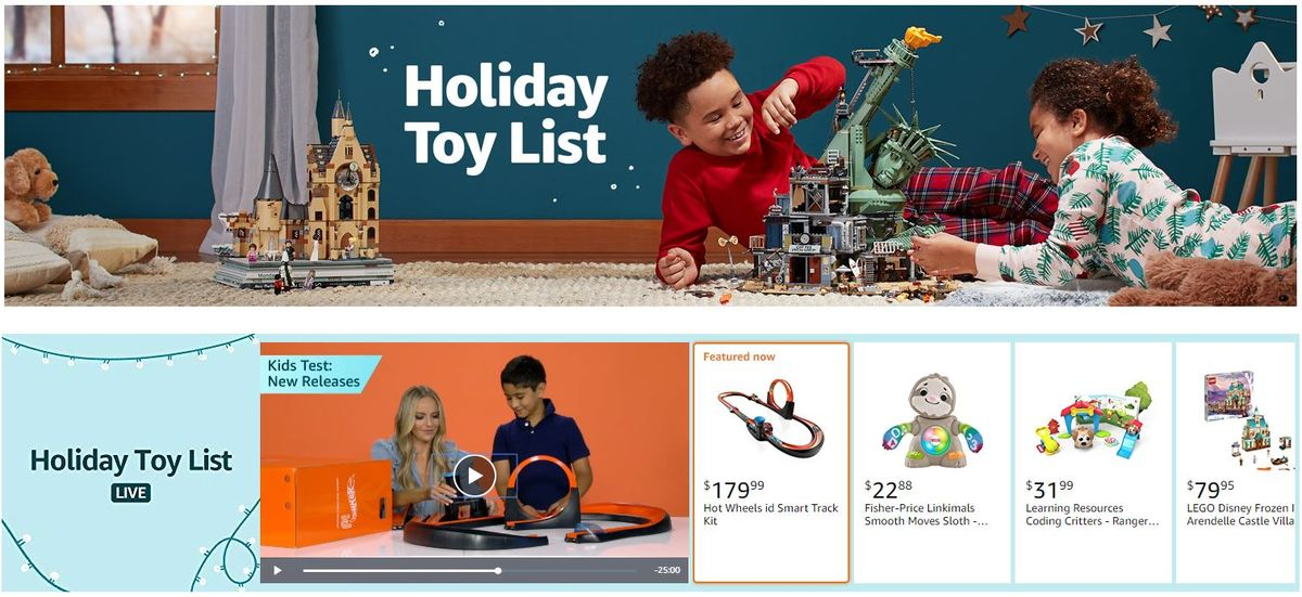 Amazon Charges Brands for Slots On Its 'Curated' Holiday Toy Guide