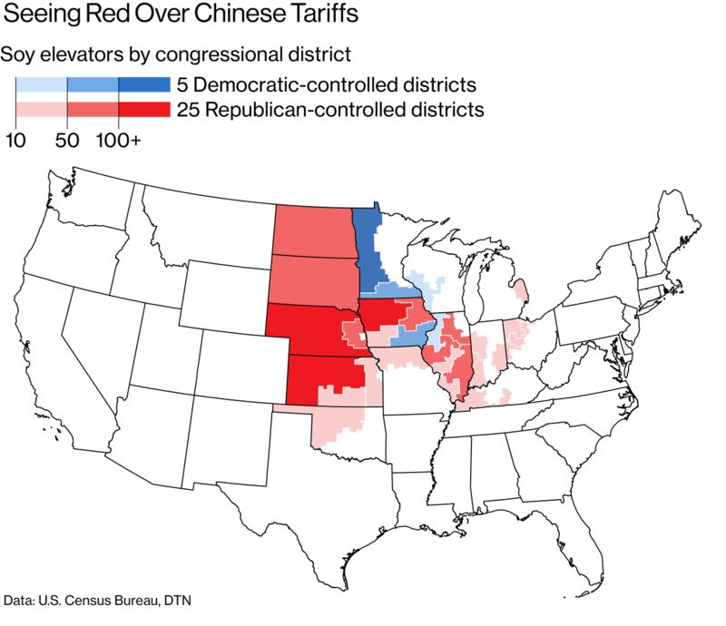 Trump\'s Tariffs Could Weaken the GOP\'s Grip on Congress - Bloomberg