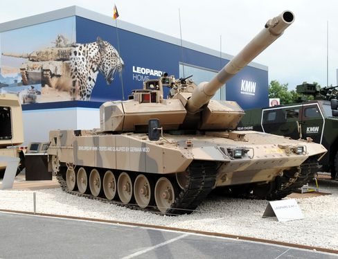 A Leopard 2 Type Tank