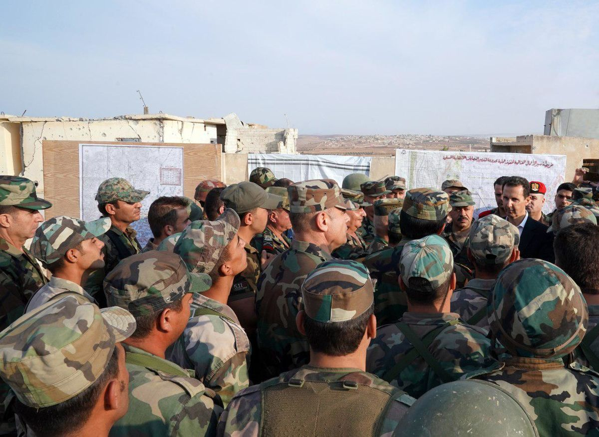 Syria's Assad Visits 'Front line' Soldiers Outside Rebel Holdout