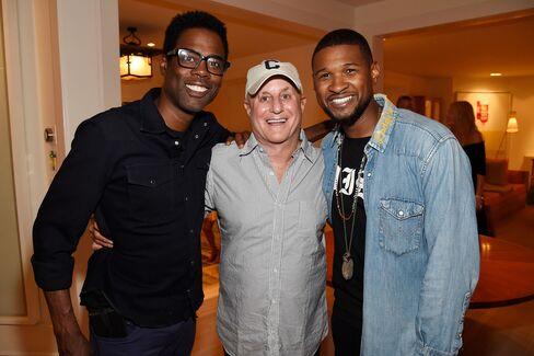 Chris Rock, Ron Perelman and Usher