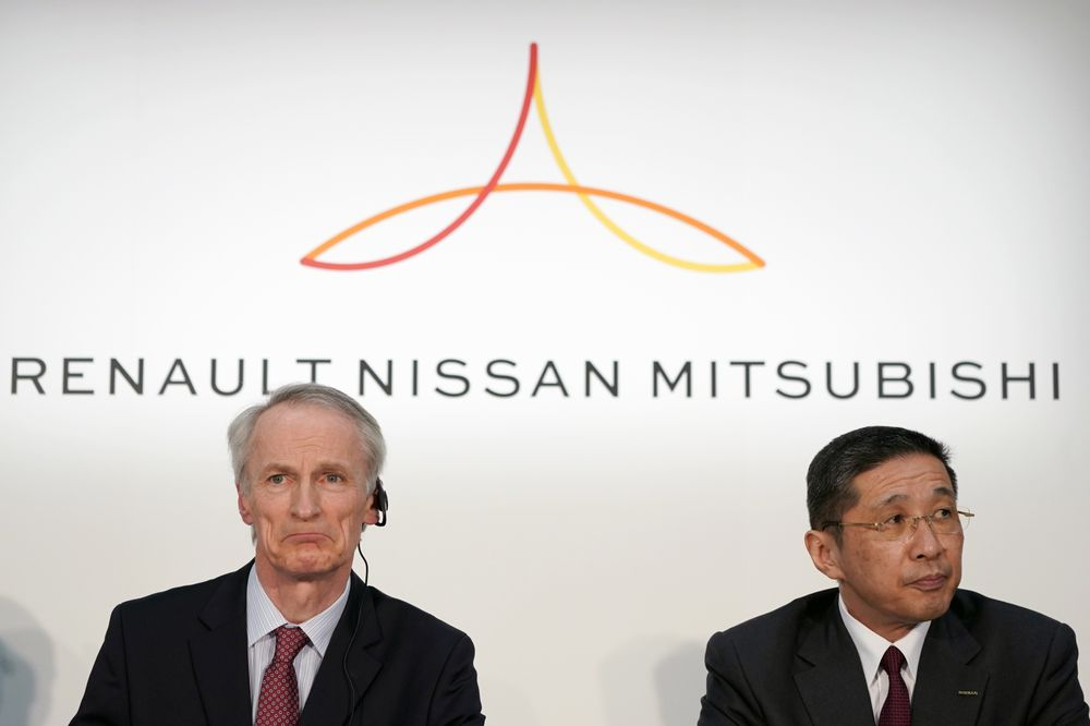 2a1c369fcbd8 Nissan, Renault and Mitsubishi Motors Heads Hold News Conference as Ghosn  Seeks to Regain Clout