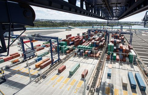 Operations Inside The Hutchison Ports Sydney Terminal