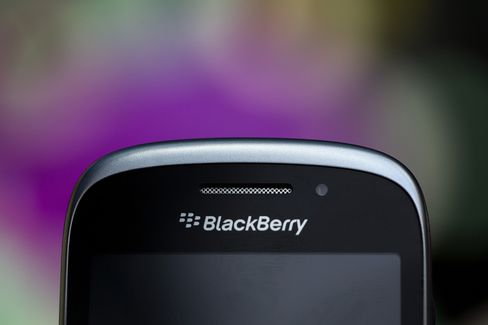 BlackBerry Logo Sits on Smartphone