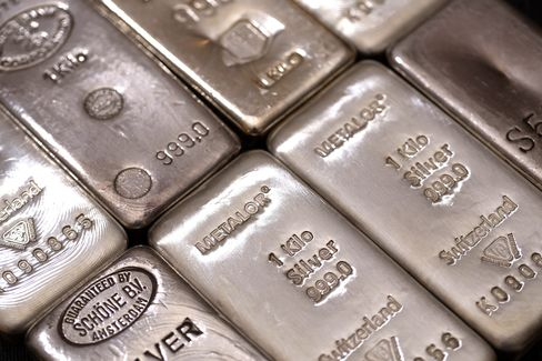 Silver Leads Commodity Retreat as Chinese Manufacturing Slows