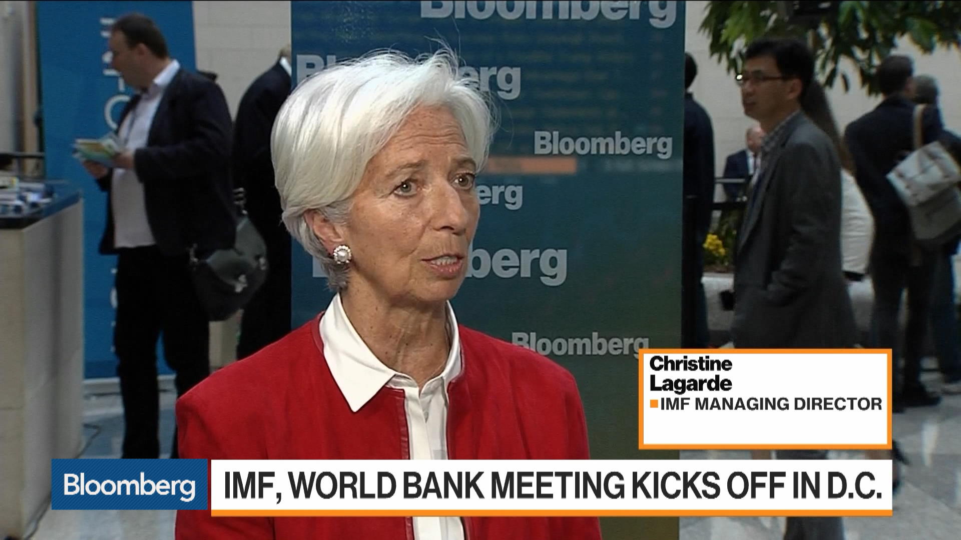 IMF's Lagarde on Global Growth, Trade, Brexit, China