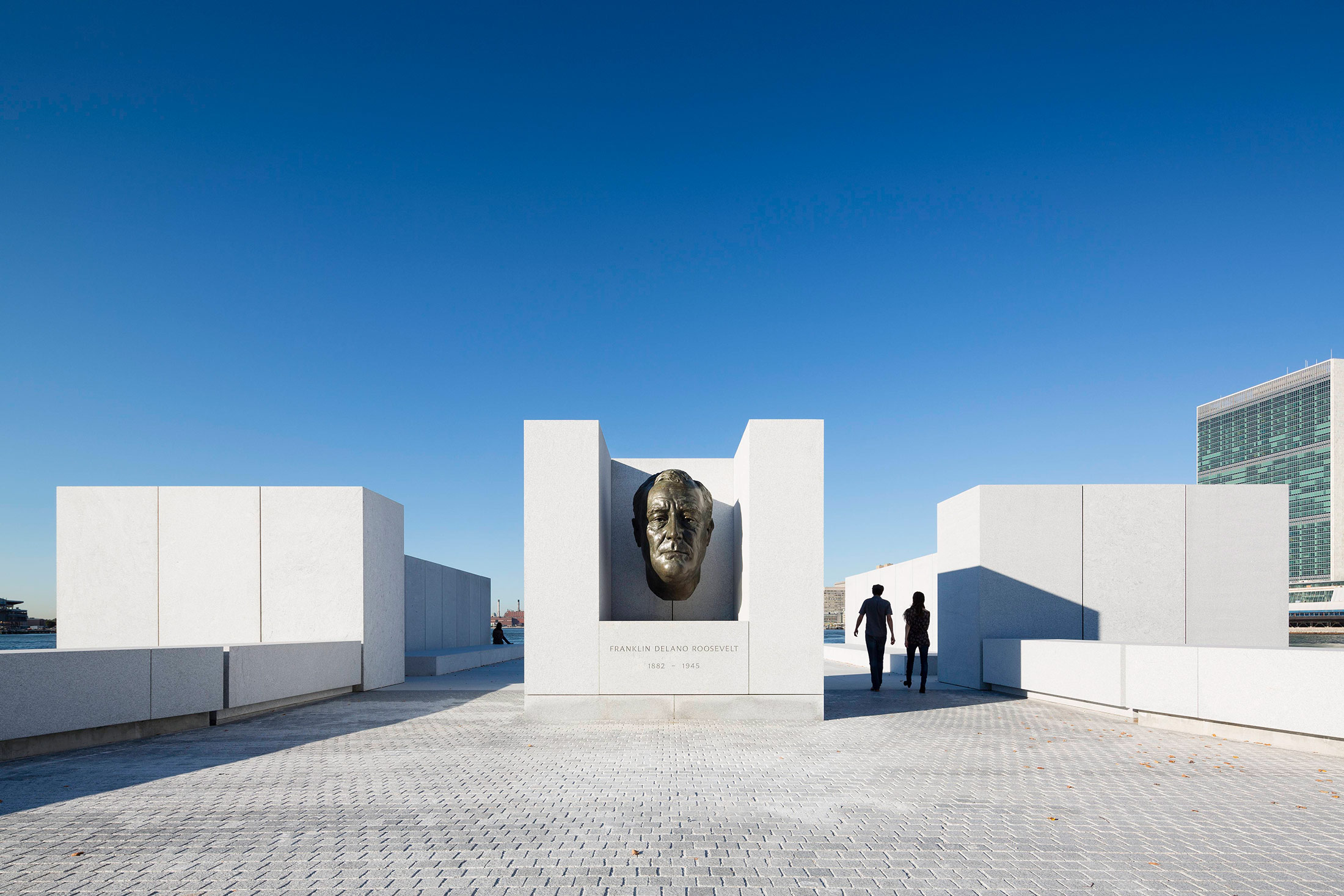 The memorial's focal point